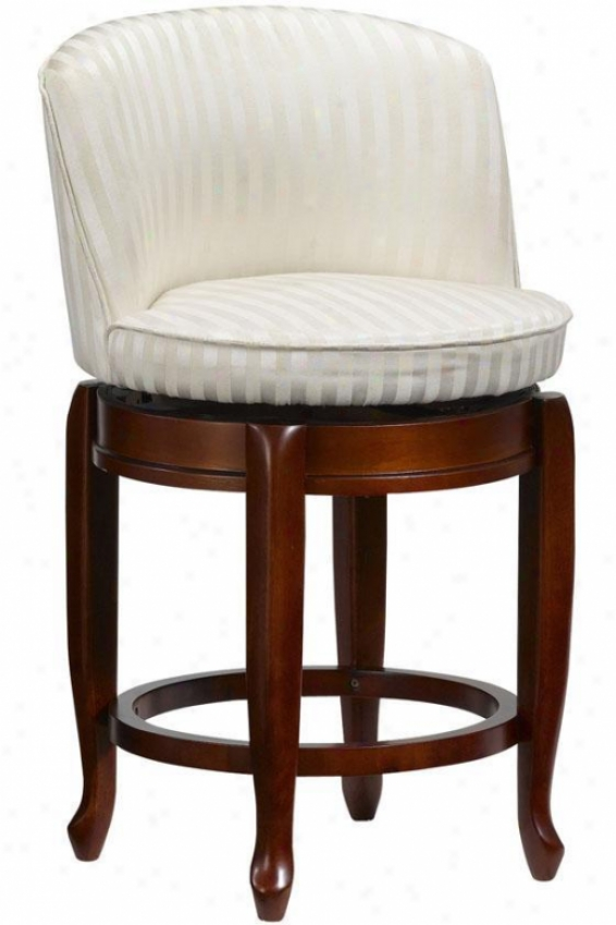 """delmar High-back Swivel Counter Stool - 24""""h, Ivory"""