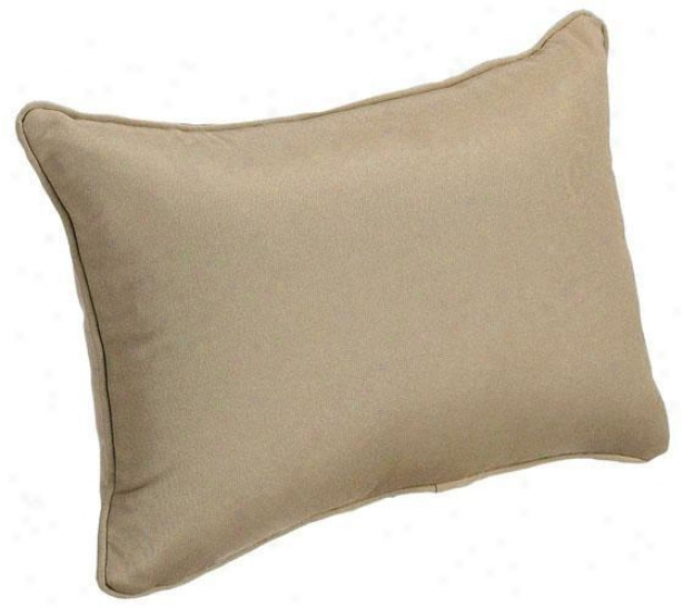 """deluxe 20""""w Indoor Outdpor Make a cast Pillow - Sunbrella, Heather Beige"""
