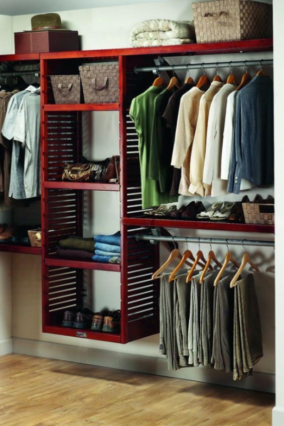 Deluxe Walk-in Custom Closet System - Walk-in, Maroon