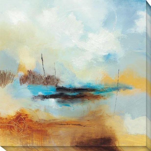 Desert Skies Ii Canvas Wall Art - Ii, Blue