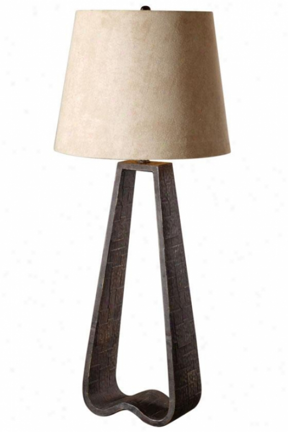 """devonte Table Lamp - 36""""h, Distress Dk Brn"""