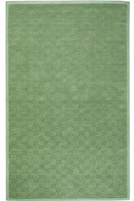 Diaamond Jute Area Rug - 4' Round, Forest Green