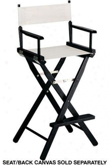 """""""director's Bar Stool Frame 30""""""""h Black - Director's Chairs Fr0m Home Decorators Collection"""""""