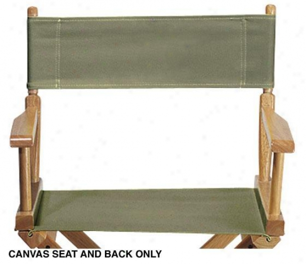 Director's Canvas Seat And Back - Canvas, Sage
