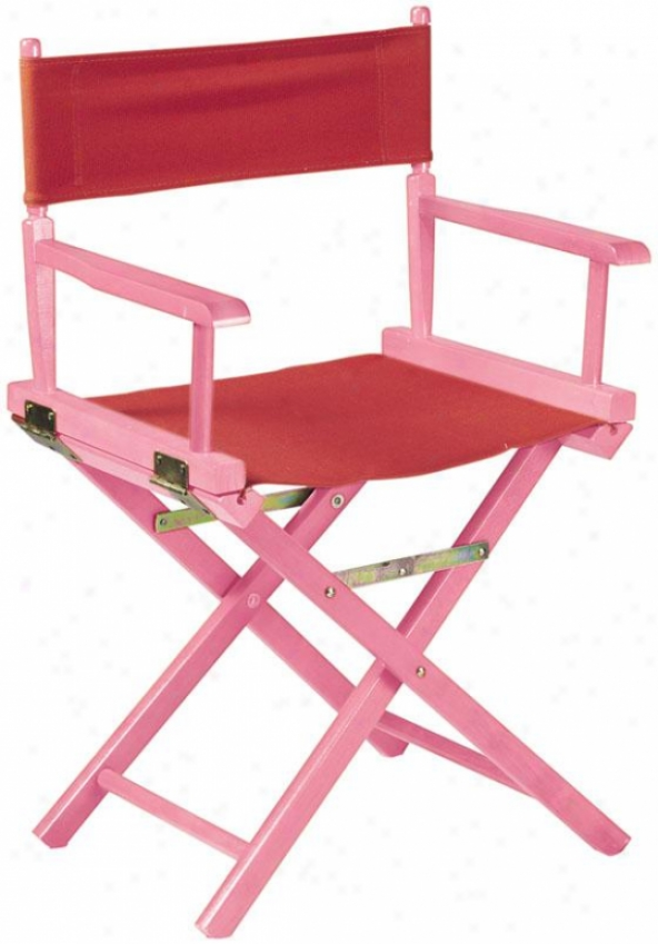 """director's Chair Frame - 18""""h, Pink"""