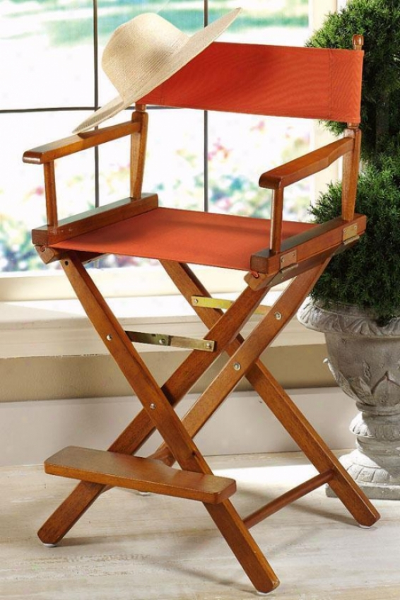 """""""director's Counter Stool Frame 24""""""""h Honey - Director's Chaurs From Home Decorators Collection"""""""