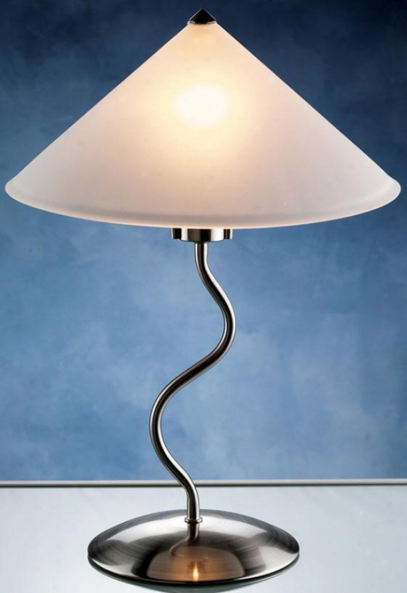 """doeli  Touch Lamp - 19""""hx14""""d, Silvet Chrome"""