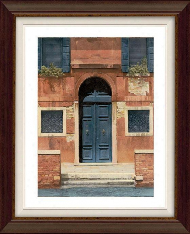 Door Series I Framed Wall Art - I, Flt Atq Wln/gld