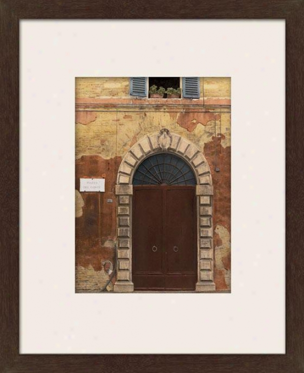 Passage Series Ii Framed Wall Art - Ii, Matted Espresso