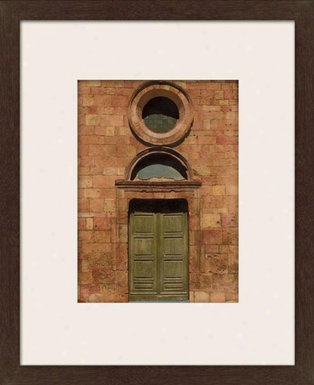 Door Series Iii Framed Wall Art - Iii, Matted Espresso