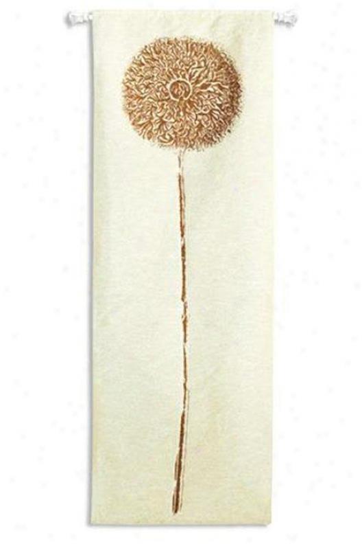 """""""double Opium Copper Tapestry - 30""""""""hx88""""""""w, White"""""""