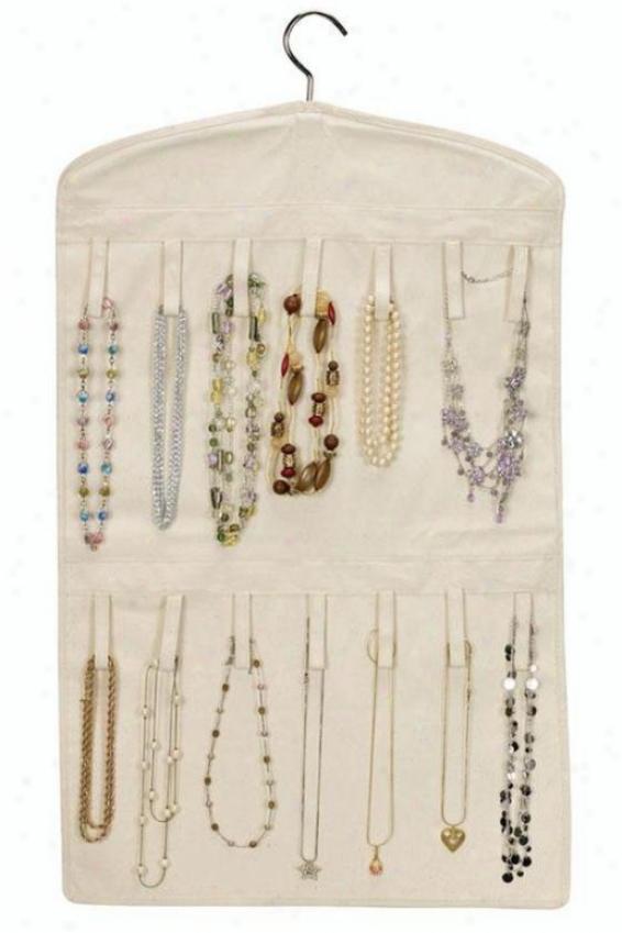 """""""double-sided Jewelry Organizer - 32""""""""hx18""""""""w, Cotton Canvas"""""""