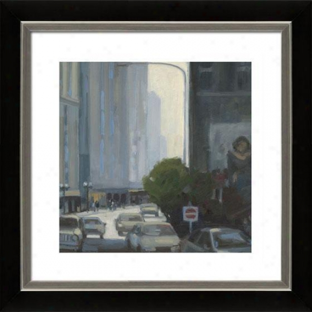 Downtown Ii Framed Wall Art - Ii, Mtt Black/slvr
