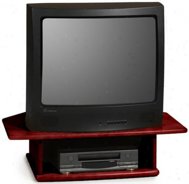 """drayton 2-tier Tv Turnrable - For 36"""" Tv, Brick Red"""