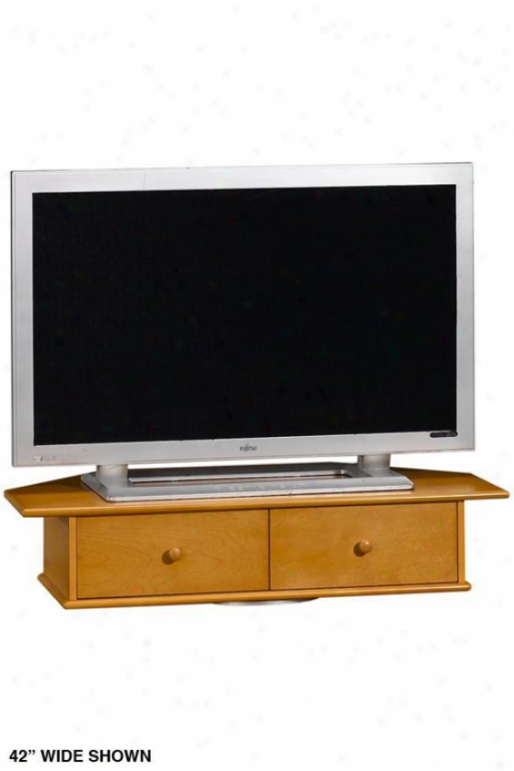 """drayton Tv T8rntable With Drawer - 8.5""""hx42""""w, Tan"""