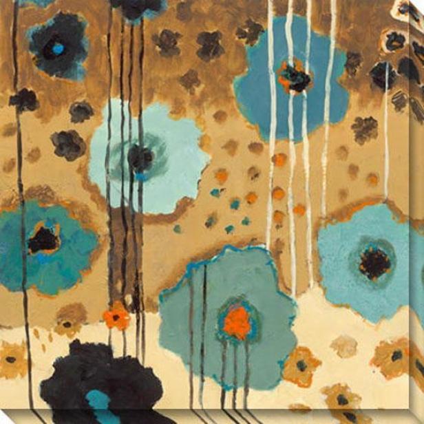Dream Flowers Ii Canvas Wall Art - Ii, Livid
