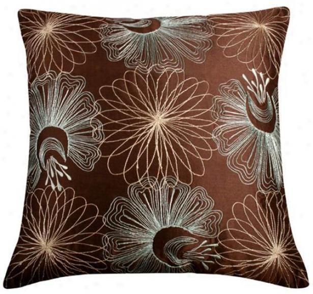 Dresden Pillow - 18x18, Brown