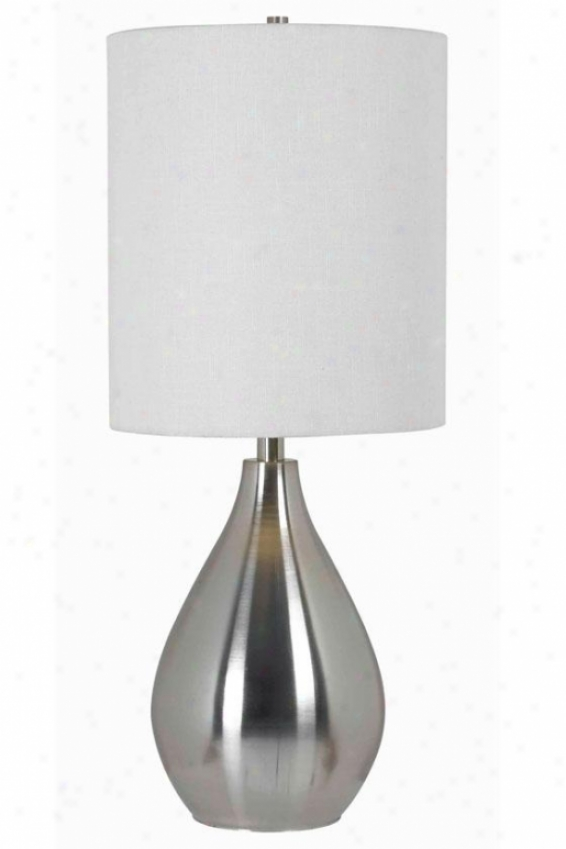 """droplet 12""""w Table Lamp - 29""""h X 12""""w, Grey Steel"""