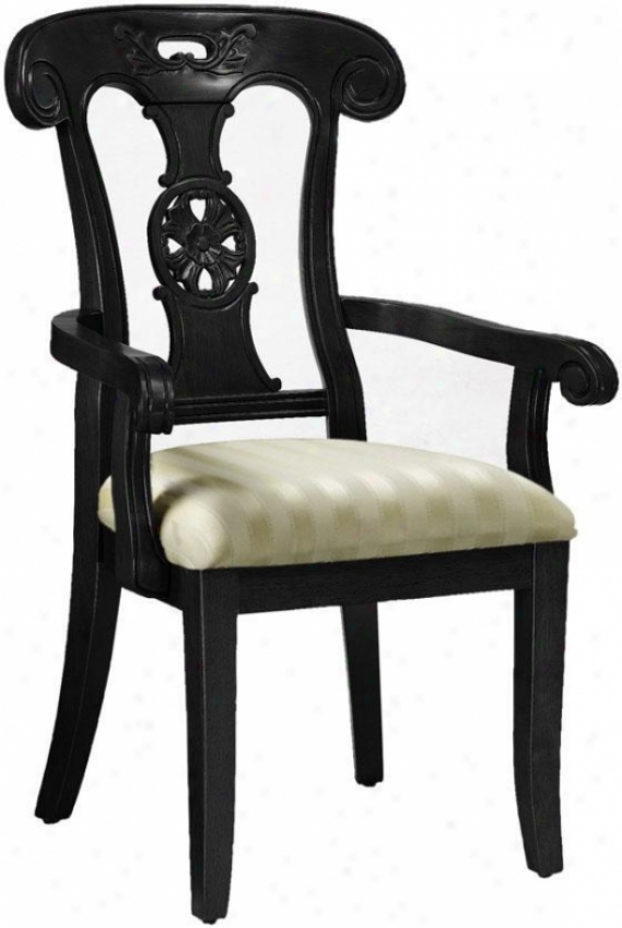 Dubois Hand-carved Fortify Chair - Beige Saitn, Black