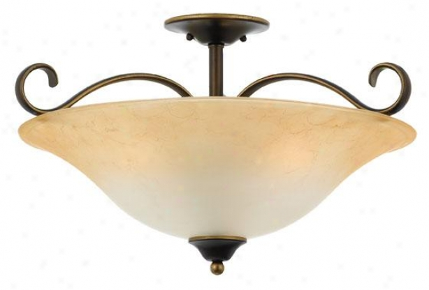 Duchess 3-light Flush Mount - 3-light/xl, Palladian Bronz