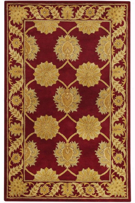 Duchess Rug - 6' Round, Red