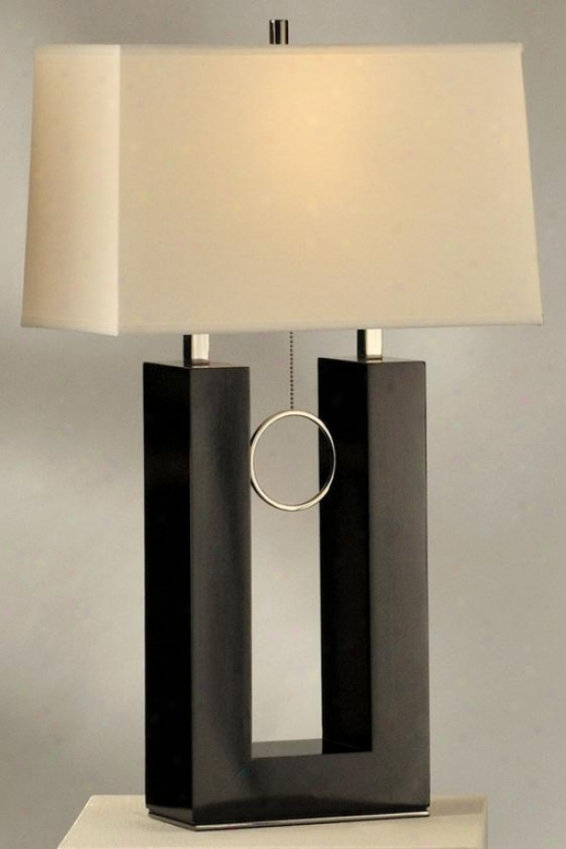Earring Standing Table Lamp - Standing, Black