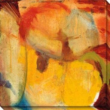 Eccentric Abstraction Ii Canvas Wall Art - Ii, Yellow