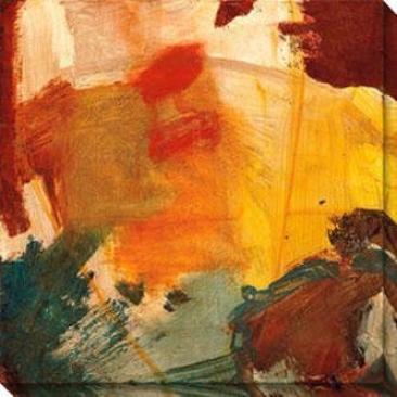 Eccentric Abstraction Vi Canvas Walll Art - Vi, Yellow