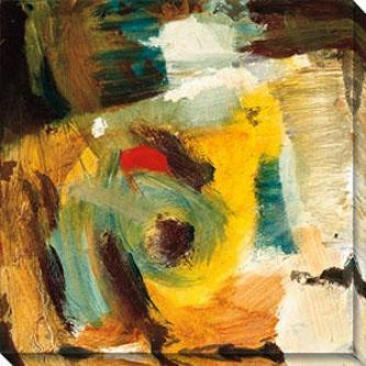 Eccentric Abstraction X Canvas Wall Art - X, Yellow