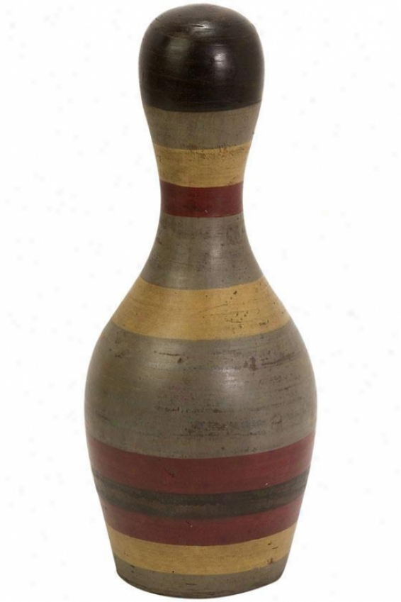 Edgar Bowling Pin - Small, Earth Tones