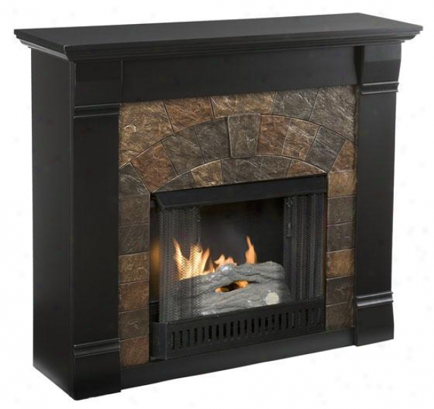Edgewater Fireplace - Gel Fireplace, Black