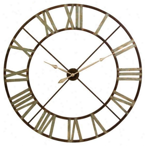 """edward Wall Clock - 48""""d, Brown"""
