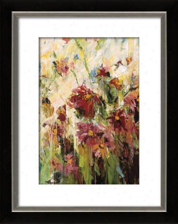 Flowering I Framed Wall Art - I, Mttd Black/slvr