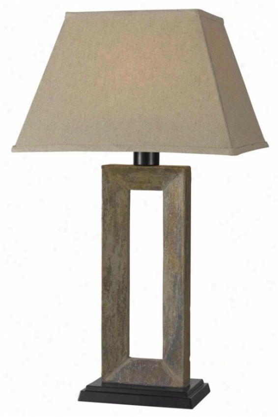 """egress Outdoor Table Lamp - 29""h"" X 15""""w, Beige"""