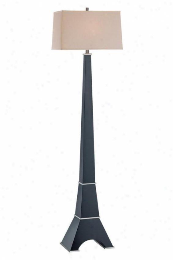 """""""eiffel Floor Lamp - 63h X 17""""""""w, Brown Wood"""""""