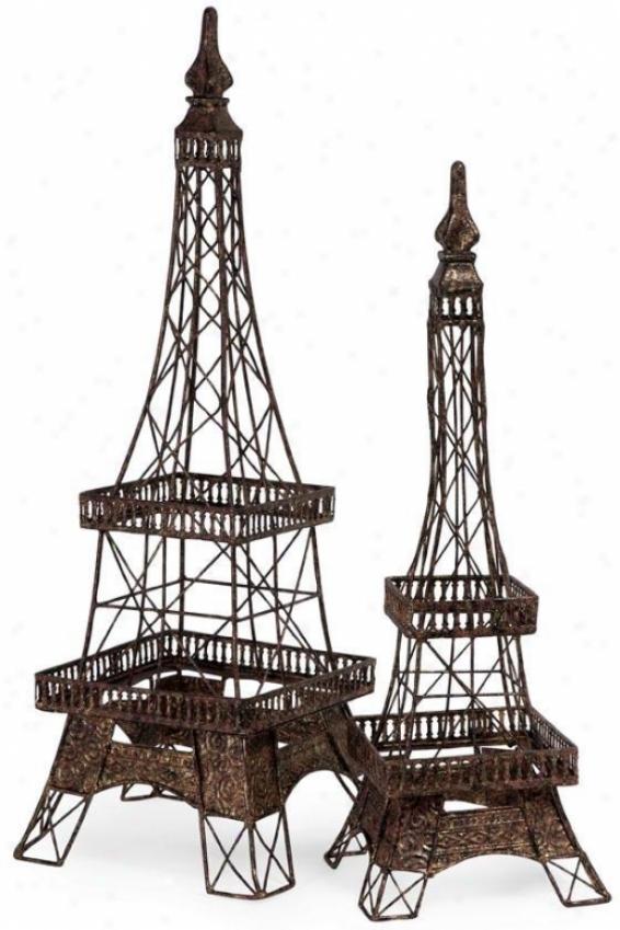 Eiffel Tower Accent - Large, Brnze