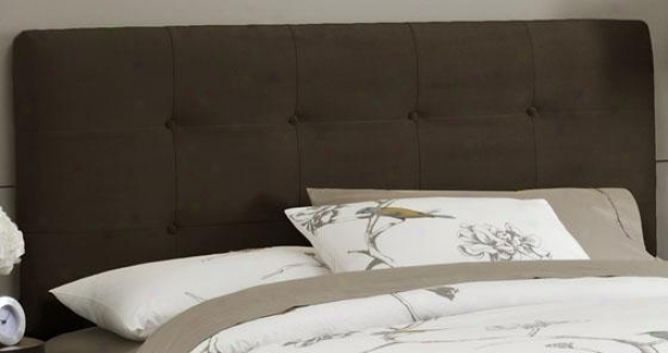 Eight-button Headboard - Queen, Velvet Chocolat