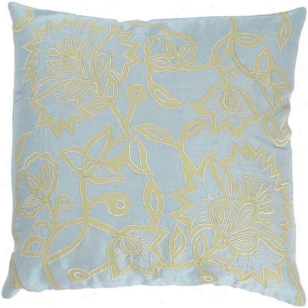 Elaina Pillow - 18ux18w, Blue/lime