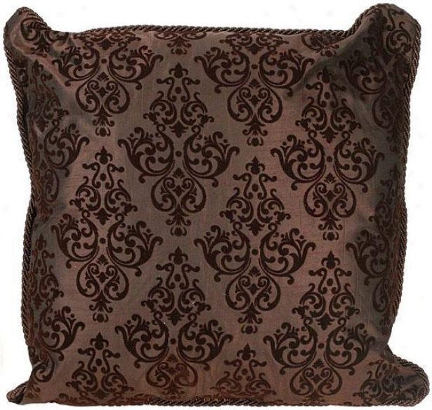 """elaine Pillow - 16"""" Square, Chocolate Brown"""