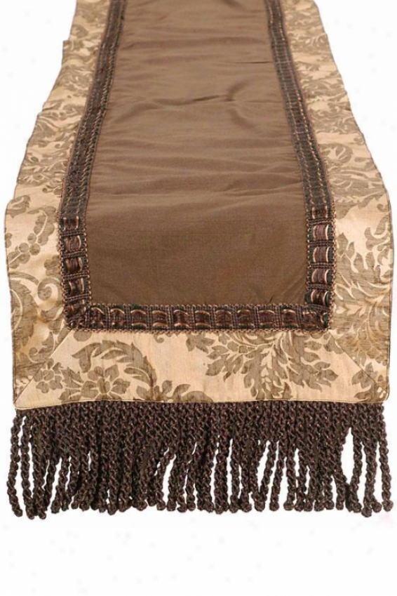 """elegance Table Messenger - 12""""hx72""""w, Brown"""