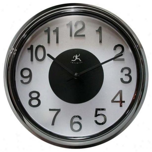 """""""elektric Cool Wall Clock - 15""""""""hx15""""""""w, Black Pearl"""""""