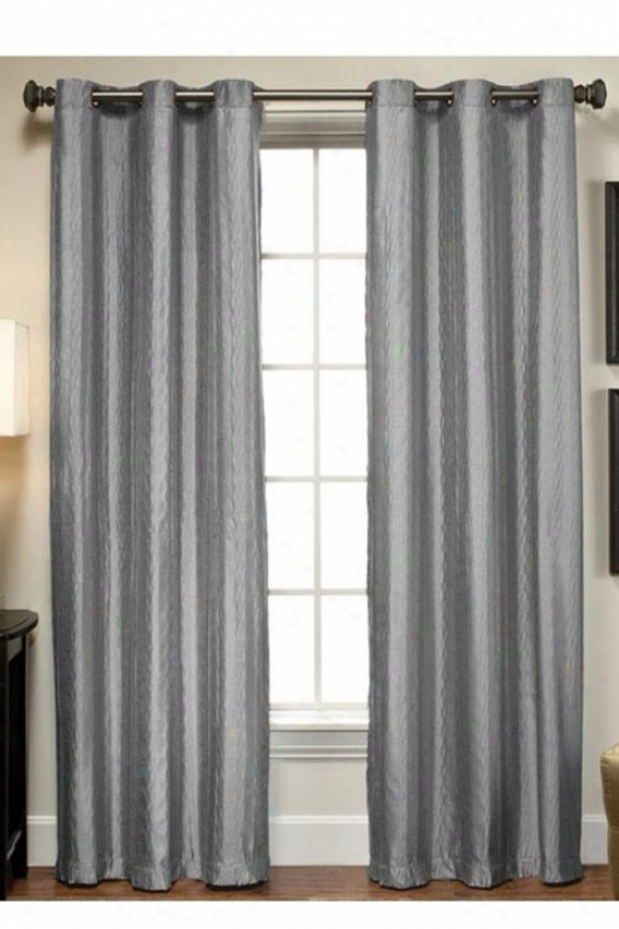 """ella Drapery Panel - 84""""h X 40""""w, Gray"""
