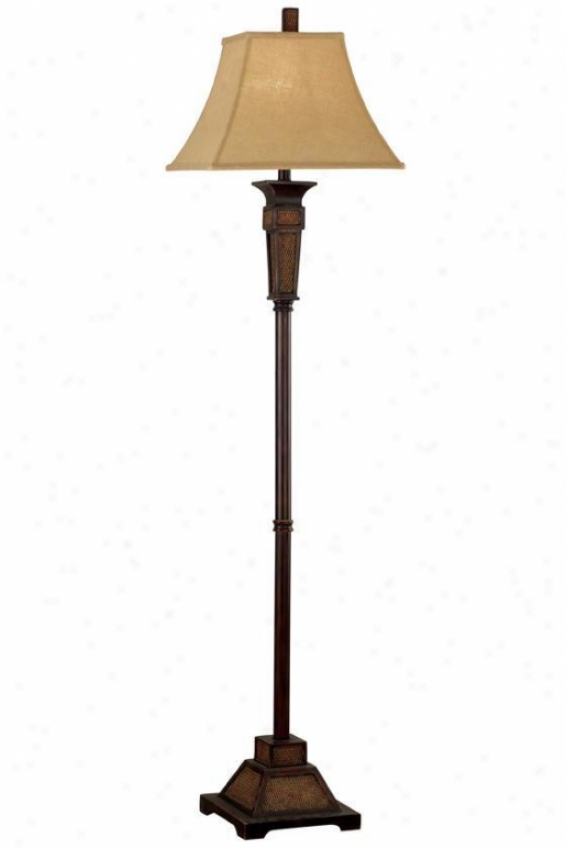 """ellis Floor Lamp - 62""""hx15""""d, Wthrd Teak Rttn"""