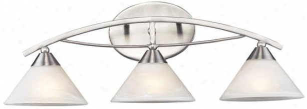 """ellison 25""""w Vanity - 3-light, Silver"""