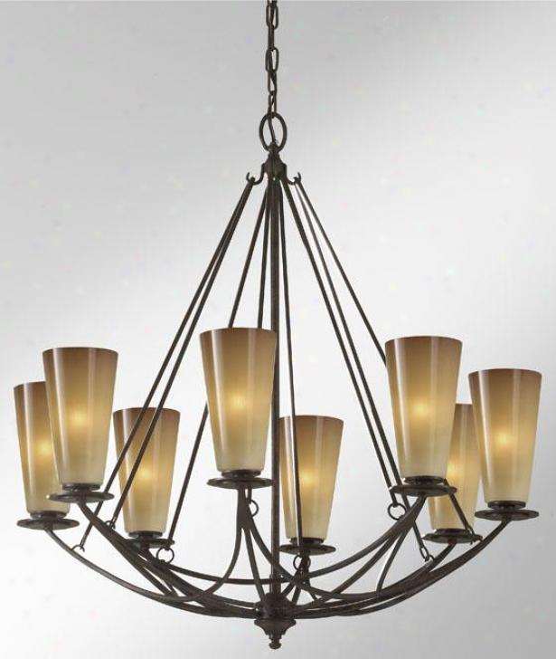 Elsworth Chandelier - Eight Light, Mocha Bronze