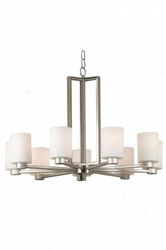 Embrace Chandelier - 9-light, Grey Steel