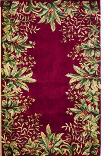 """emerald Area Rug - 9'6""""x13'6"""", Brick Red"""