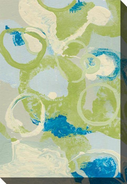 Energing Impression Iv Canvas Wall Art - Iv, Green