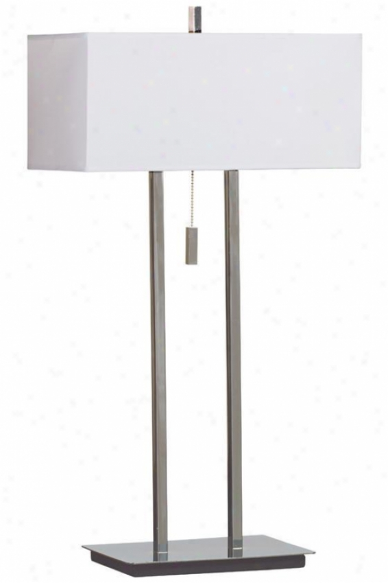 """emilio Table Lamp - 29""""h, Gentle Chrome"""
