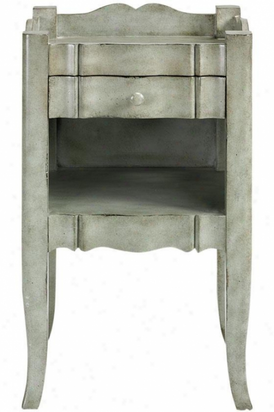 """emily Accent Side Table - 27""""hx16""""w, Grey"""